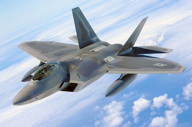 Image of the Raptor F-22
